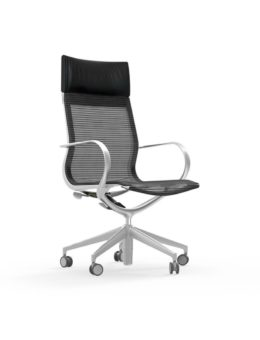 CUR105 Aluminum High Back Mesh Executive & Conference
