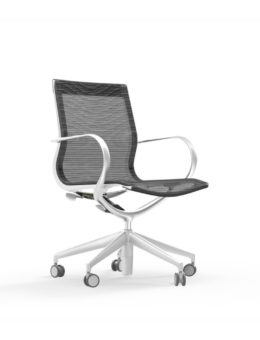 CUR107 Aluminum Mid Back Mesh Executive & Conference