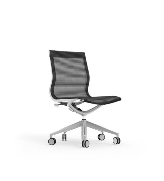 CUR108 Aluminum Mid Back Mesh Executive & Conference Armless Chair