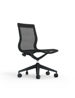 CUR112 Nylon Mid Back Mesh Executive & Conference Armless Chair