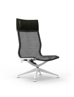 CUR120 Aluminum High Back Mesh Lounge Armless Chair