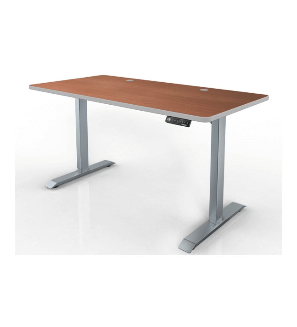 Electric height adjustable table base with top Motorized table