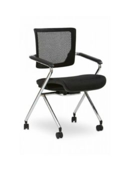 X Stack Chair with Wheels