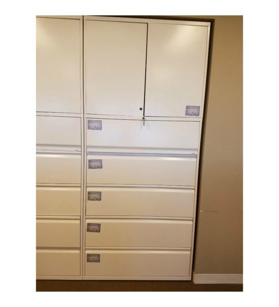 Used 5-Drawer Lateral File with Storage Cabinet