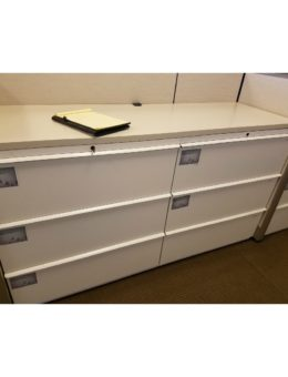 Used 2×3 Drawer Lateral File with Wood Counter Top