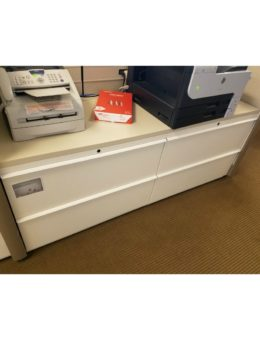 Used 2×2 Drawer Lateral File with Wood Counter Top
