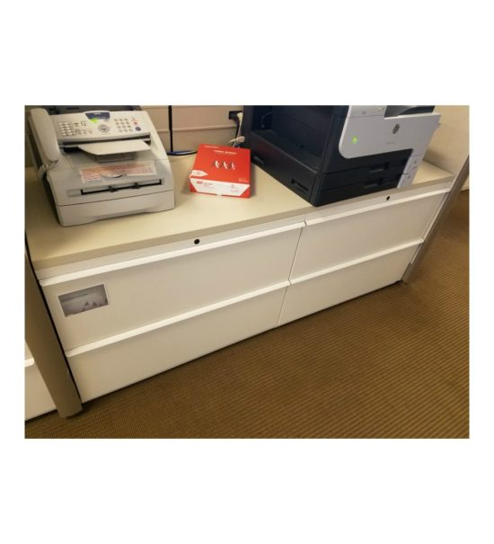Used 2x2 Drawer Lateral File with Wood Counter Top