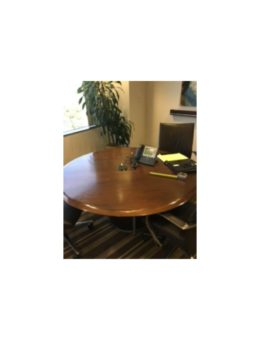Round_Conference_Table_48x48_Dark_Walnut_Gently_USED