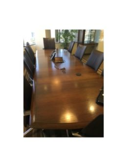 Used Walnut Conference Table 12'x4′