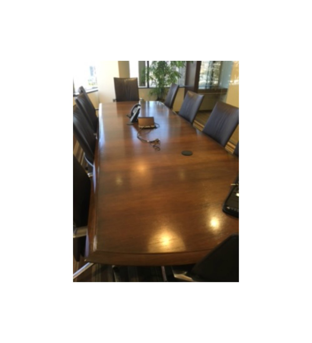 Dark Walnut X Conference Table Gently Used W Electric Components - 10 x 4 conference table