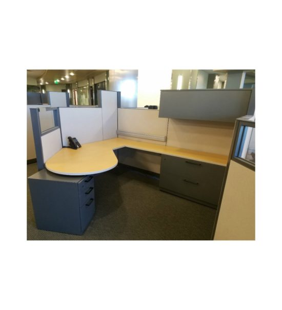 Steelcase_Answer_8'x7'_Cubicle_Workstations_Gently_USED
